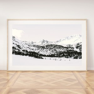 snowy mountains Andorra wall print