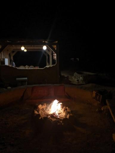 bonfire desert vacation israel