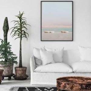 dead sea veritcal turquoise wall print 1