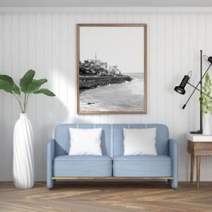 tel aviv black and white wall print