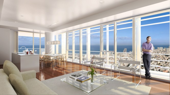 New Apartment Ready To Live In Maier Tower On Rothschild Very High Floor With Open Sea View