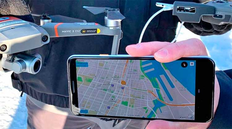 drone to phone identification