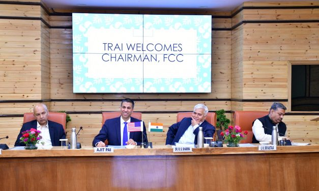 FCC Chairman Ajit Pai met telecom secretary and TRAI chief to discuss 5G spectrum issues