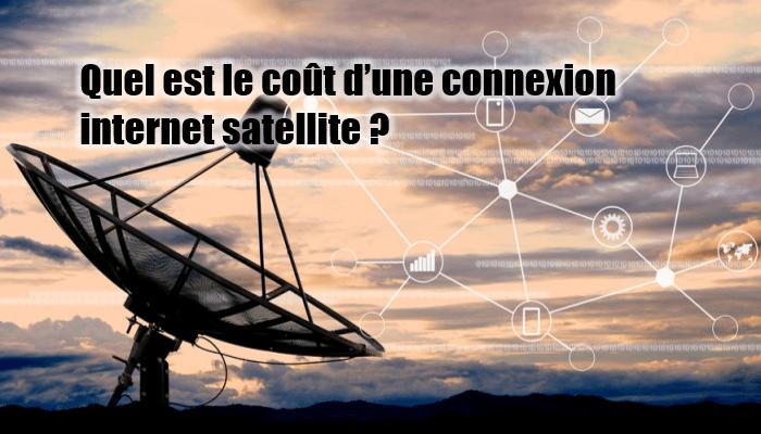 Coût d'une connexion satellite