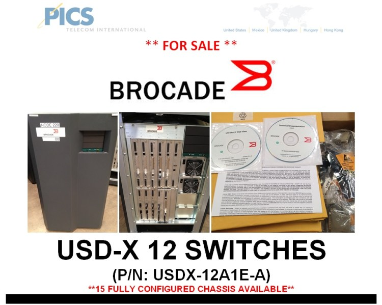 Brocade USD-X 12 Switches For Sale Top (4.10.13)