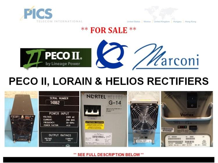 PECO II Lorain & Helios Rectifiers For Sale Top