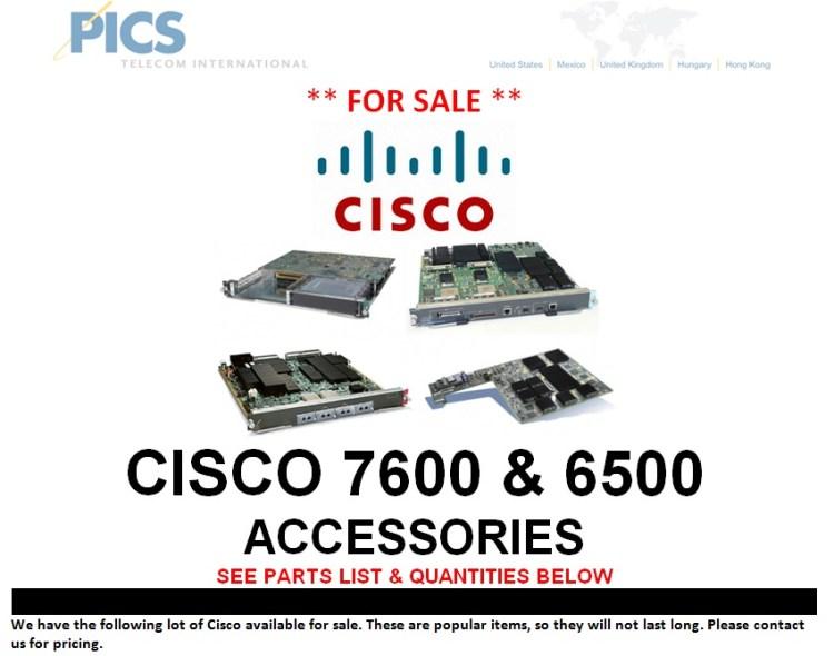 Cisco 7600 & 6500 Accessories For Sale Top (7.16.13)