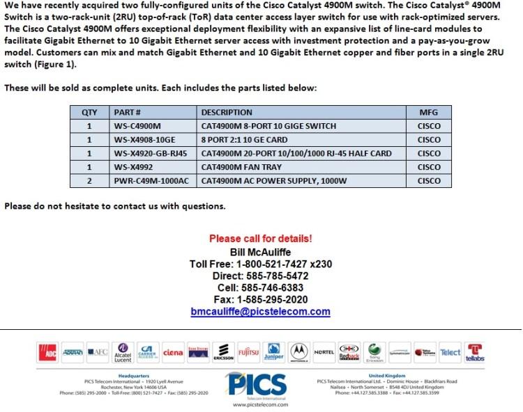 Cisco C4900M Switch For Sale Bottom (9.16.13)