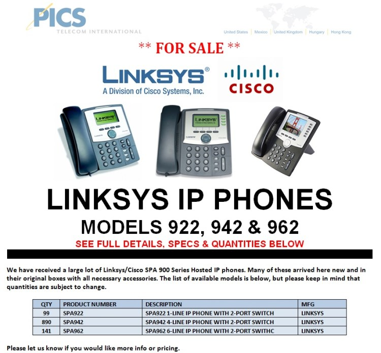 Linksys IP Phones For Sale Top (9.5.13)