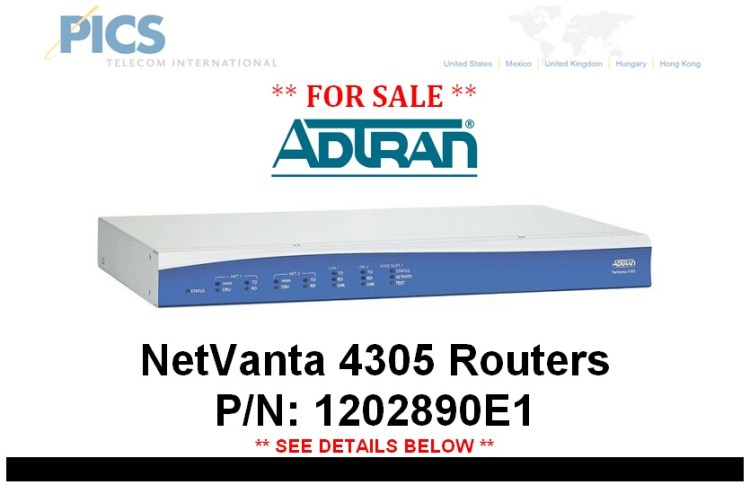 Adtran NetVanta 4305 Routers For Sale Top (3.28.14)
