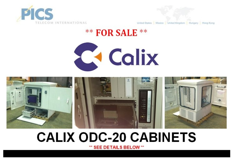 Calix ODC-20 Cabinets For Sale Top (4.4.14)