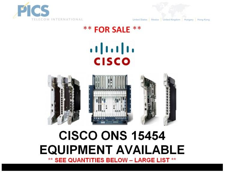 Cisco 15454 Equipment For Sale Top (7.7.14)