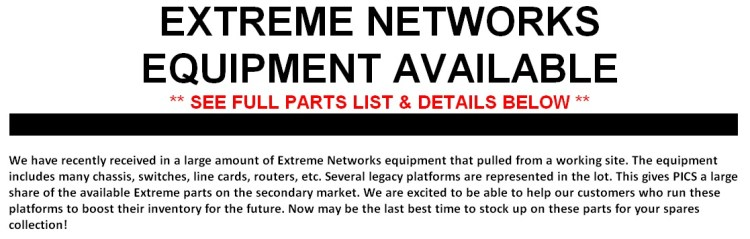 Extreme Networks Equipment For Sale Middle 1 (7.23.14)