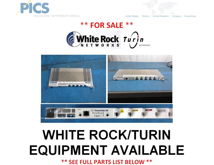 White Rock Networks Equipment For Sale Top (7.24.14)