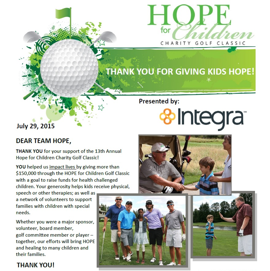 Integra Hope Golf Classic Post Top (7.29.15)