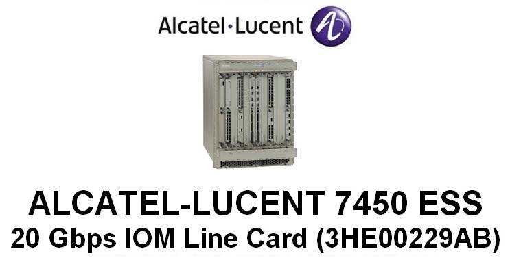 Alcatel-Lucent 7450 ESS 20 Gbps IOM Line Cards (3HE00229AB