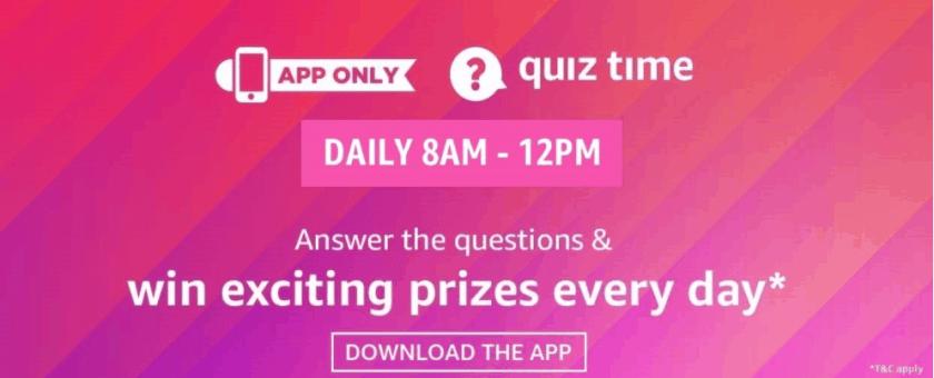 Amazon Quiz Answers Win Today