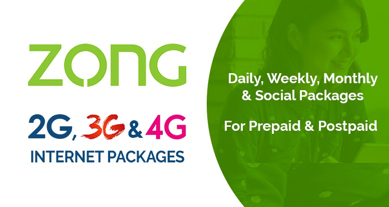 Zong latest Internet Packages 2020