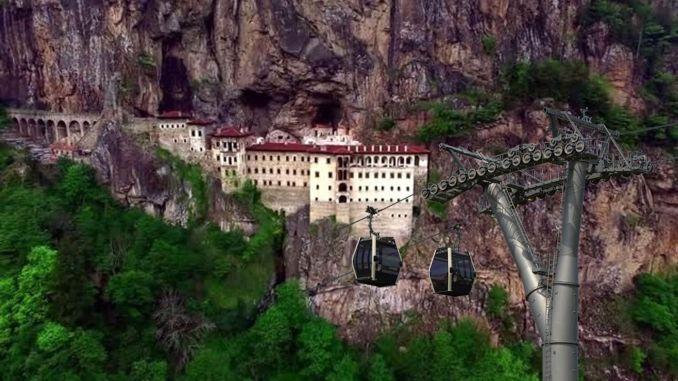 sumela manastiri teleferik projesi tamamlandi ihaleye cikiyor