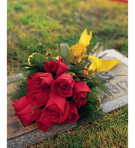 roses for cemetery headstone