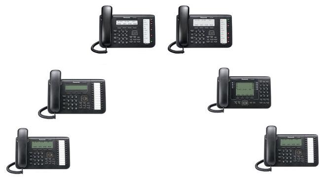 Panasonic Teléfonos IP KX-NT551-B, KX-NT543-B, KX-NT553-B