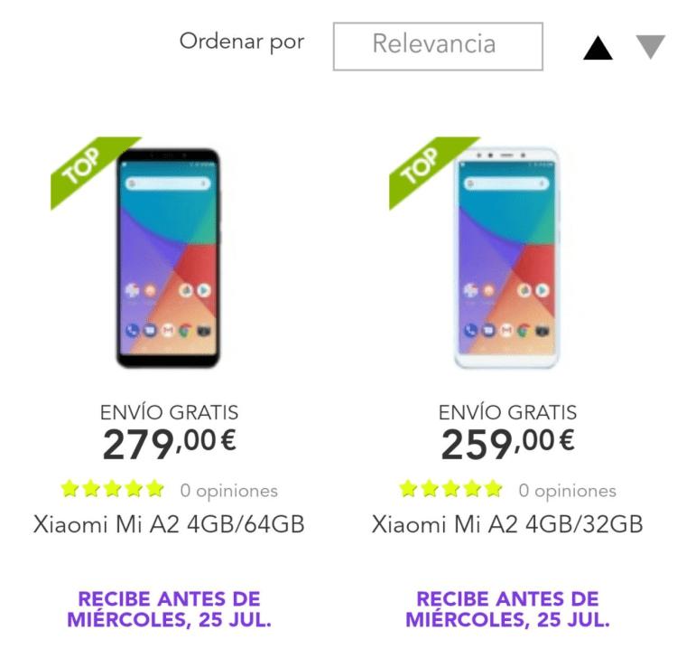 comprar el Xiaomi Mi A2