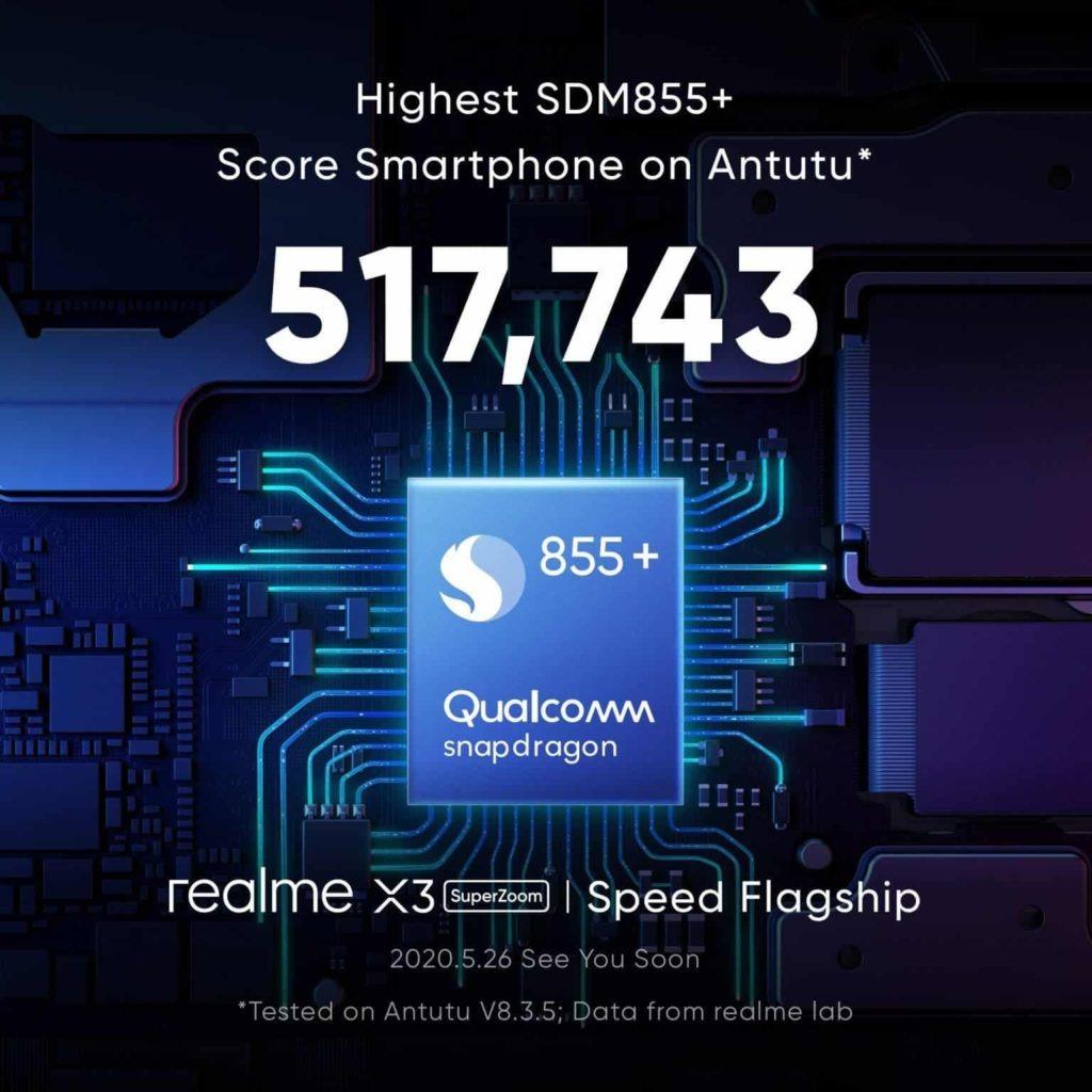 Realme X3 SuperZoom microprocesador 855+