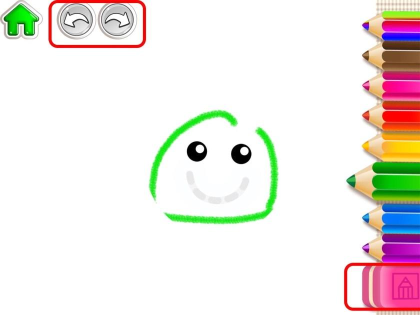 Приложение 123Draw: Дети понимали, как использовать приложение, потому что оно следовало их ментальной модели книжки-раскраски.
