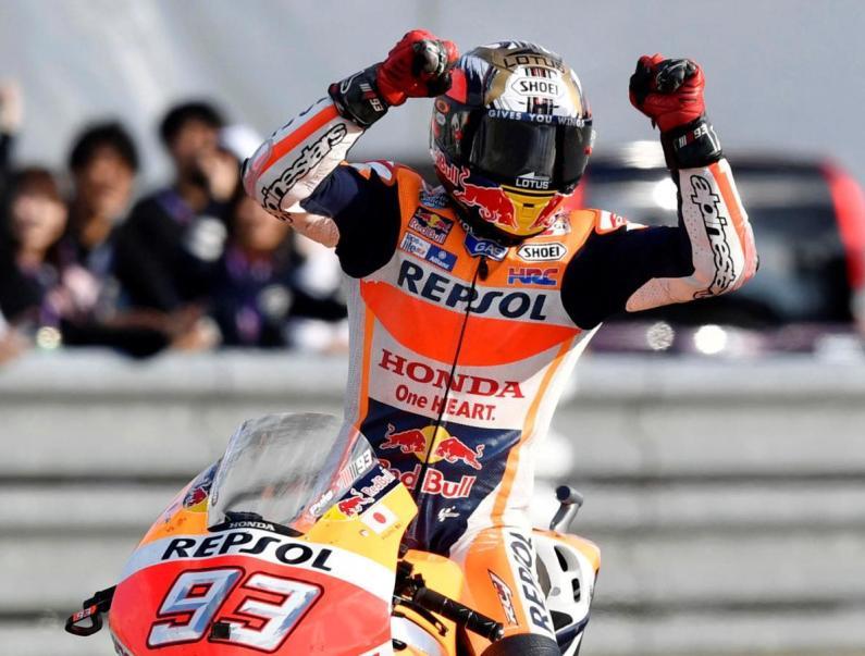 Sempat Terjatuh, Marquez Masih Yang Tercepat di Moto GP Inggris