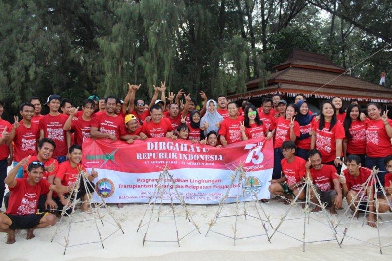 Sambut HUT RI Ke-73, Gledex Logistics Gelar Kegiatan CSR di Pulau Seribu