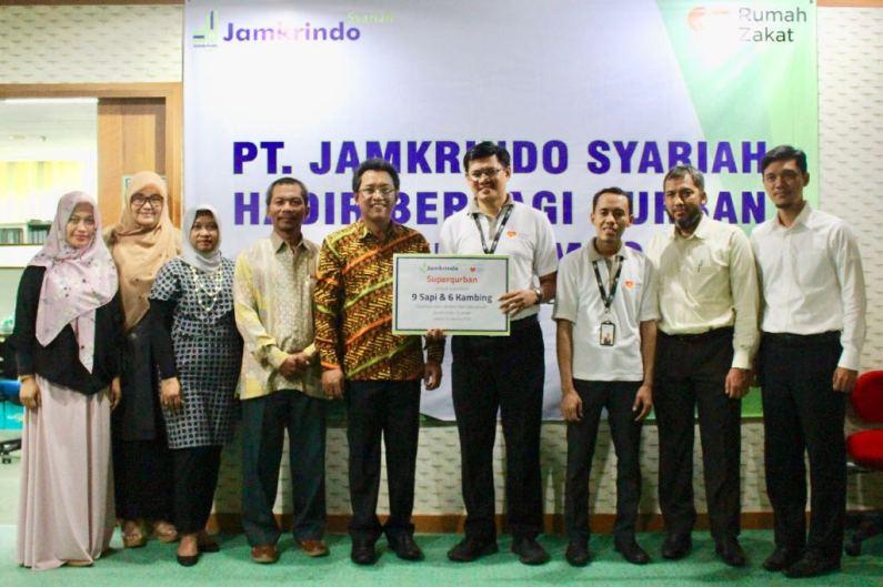 Jamkrindo Syariah Salurkan Qurban untuk Lombok