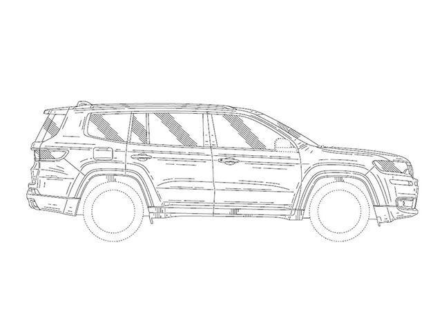 Jeep patenton veturën me tri radhë të ulëseve (Foto