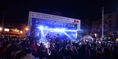 La Mancha de Rolando en su actuación durante la Fiesta de la Diversidad Cultural de Villa Gesell del 2016. (Foto Ricardo Stinco)