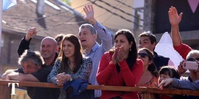 El intendente de Villa Gesell presenció las pasadas desde el palco oficial (Fotos Ricardo Stinco).