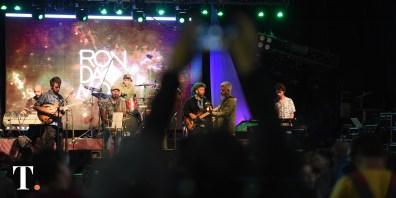 Diego Blasic y Domingo Tambourindeguy, los músicos de RonDamon en plena acción. (Fotos Ricardo Stinco)
