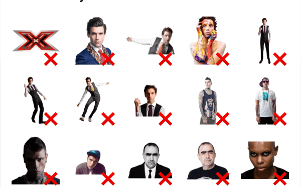 Italian X Factor show sticker pack