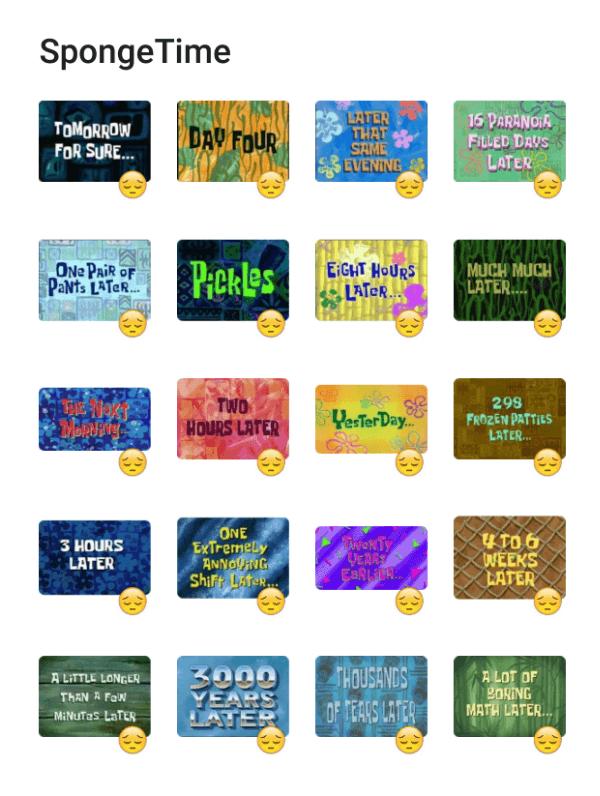 spongebob-time-sticker-pack