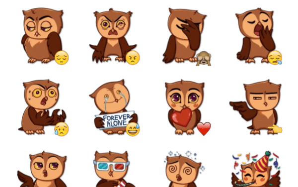 Phil the Owl sticker pack