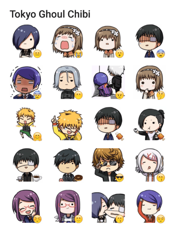 Tokyo ghoul sticker pack