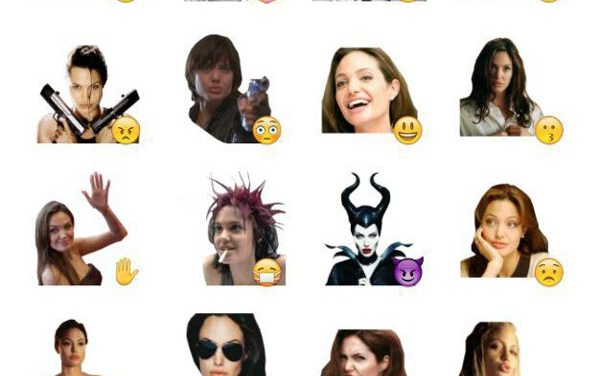 Angelina jolie Sticker Pack