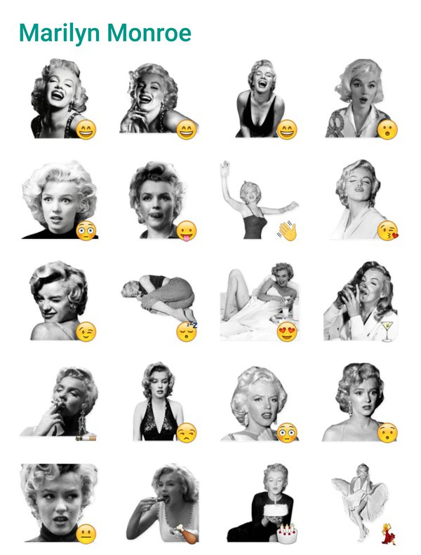 marylin-monroe-sticker-pack