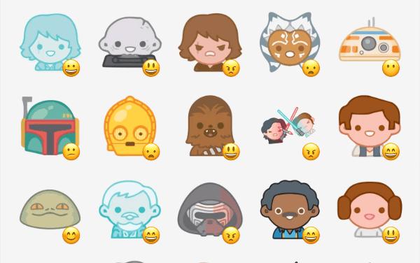 Star Wars Emoji sticker pack