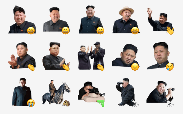 Kim Jong-un Sticker Pack