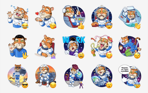 Cosmic Tiger Sticker Pack
