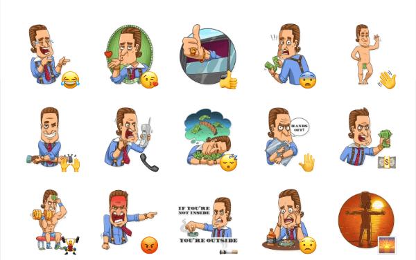 Gordon Gekko Sticker Pack