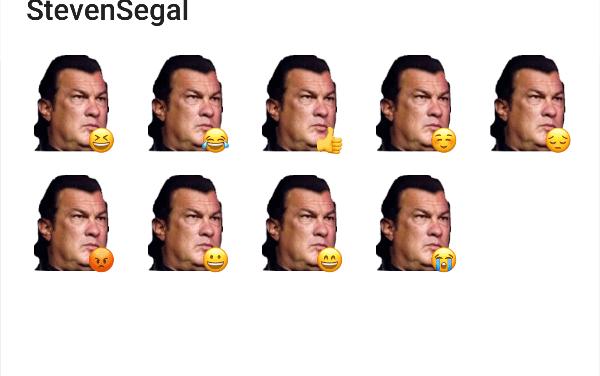 Steven Segal Sticker Pack