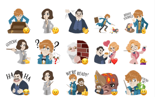 fantastic beasts and where to find them Sticker Pack