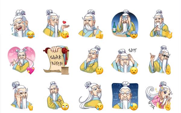 Oriental Wisdom Sticker Pack