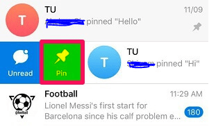 How to pin a message in Telegram 7