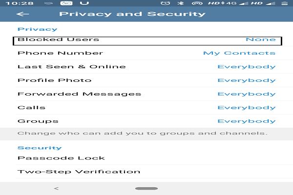 How to block someone on Telegram 5